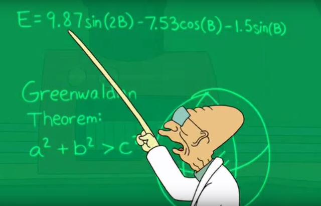 Clase de matemáticas en Futurama